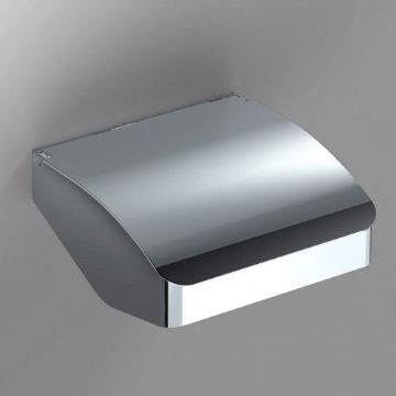 Sonia S-Cube Toilet Roll Holder Chrome 166862